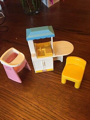 Little Tikes Dollhouse Size Purple Roof Lot People House Furniture