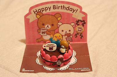 Official San X Rilakkuma Birthday Cake Re Ment Miniatures 2013 Japan Imported