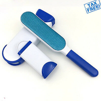 Double Sided Pet Hair Fur Lint Easy Remover Brush Dog Cat Self Clean Clothes