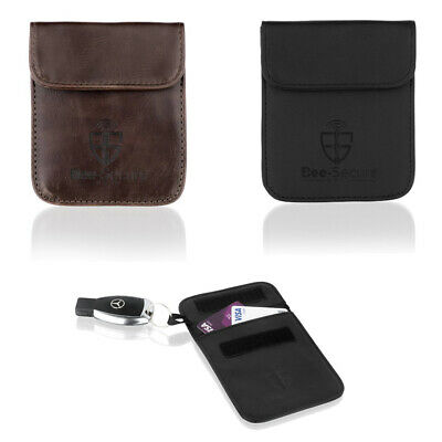 BEE-SECURE - Car Key RFID Signal Blocking Pouch / Case / Wallet Leather