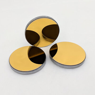 25mm Si Reflection Mirror for 10600nm CO2 laser Cutting Engraver Gold