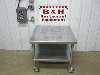 "30"" Stainless Steel Equipment Table Mixer Slicer Griddle Fryer Stand"