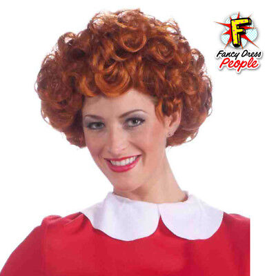 Annie Little Orphan Red Curly Wig Womens Adult Costume