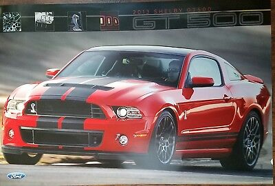 (2) NOS 2013 & 2014 Mustang Shelby GT 500 Dealer Posters 2 sided, 2 diff posters