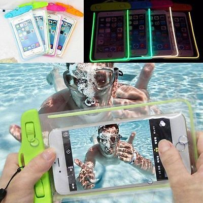 Waterproof Underwater Pouch Dry Bag Case Cover For Cell Phone Touchscreen PVC