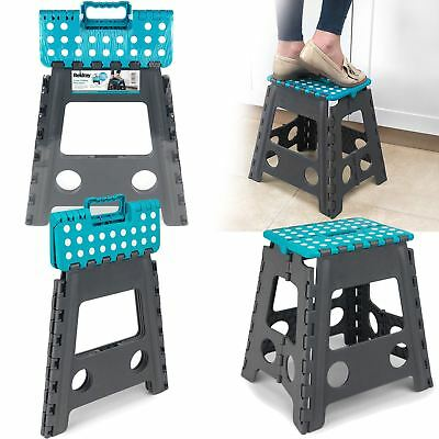Compact Folding Beldray Small / Large Step Stool Gray And Blue Home Garage Diy