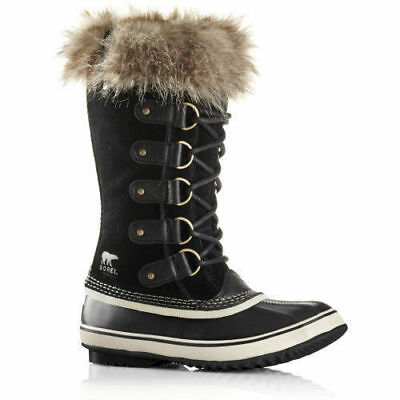Sorel Women's Joan of Arctic Waterproof Winter Boots Fur Quarry Black Pick Size