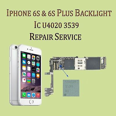 Backlight IC Repair Service  iPhone 6s  6s plus no picture or half dim repair