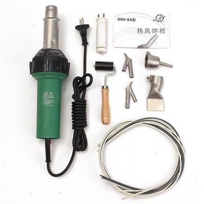 Welder 1500W Gun Hot Plastic Welding Air Pistol Torch Nozzle Speed Roller Heat