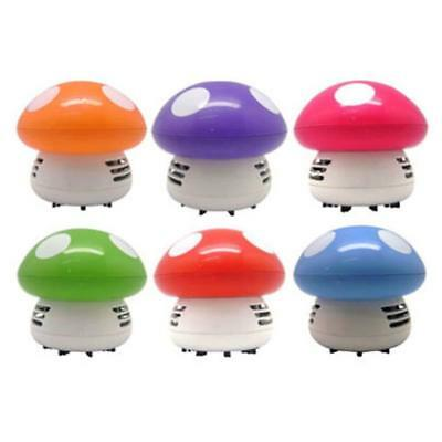 Cute Unique Mini Mushroom Corner Desk Table Dust Vacuum Cleaner Sweeper Ritzy NG