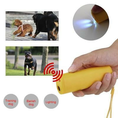 LED Dog Anti Bark Device Control Trainer Repeller Stop Barking Train Ultrasonic
