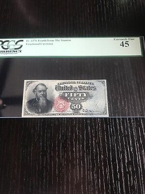 Fr.1376 Fractional Currency Fourth Issue 50 Cent Stanton Pcgs 45