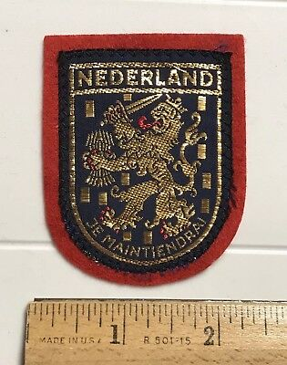 Nederland The Netherlands Holland Je Maintiendrai Coat of Arms Felt Patch badge