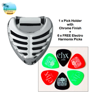 Guitar Pick Holder Plec Plectrum Holder With 6 FREE Picks for Guitar Bass