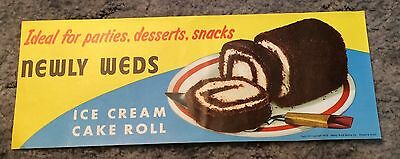 NOS Newly Weds Ice Cream Cake Roll Advertising Poster