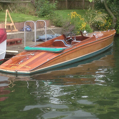 Andrews Greyhound Slipper Launch  Classic river boat