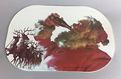 Set Of Four 1994 Coca Cola Santa Claus Reindeer Placemats
