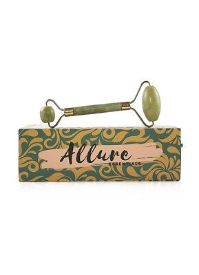 Allure Essentials Premium Jade roller - 100% Real Natural Jade Stone - Roller Fo