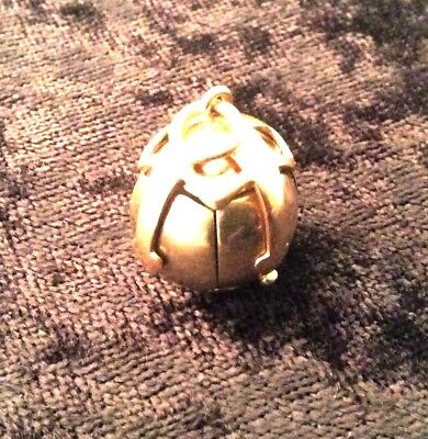 Rare Antique 9ct Gold Masonic Fob Pyramid Ball  - Made in England