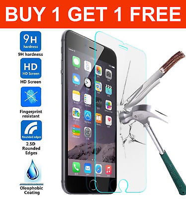 100%real Tempered Glass Screen Protector Apple Iphone 5S Se 6 6S 7 7Plus 8 X