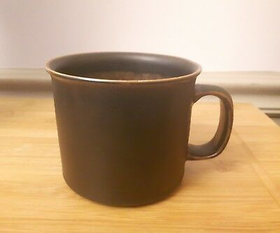 ARABIA of Finland RUSKA beer mug D handle stamped base wide mouth stoneware cup