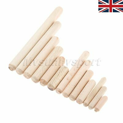 Cabinet Wooden Grooved Glue Rods Furniture Round Fluted Wood Dowels Pins 1 Set