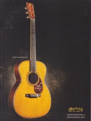 Martin Guitars Brochure USA Limited Editions and New Models Catalog 2014