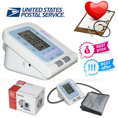 Blood Pressure Monitor BP Cuff Upper Arm NIBP Machine Pulse Heart Rate Checker