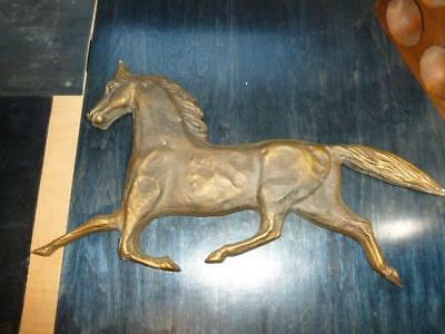 "Vintage Equestrian Running Horse 23"" Wall Hanging Country Barn Plaque"