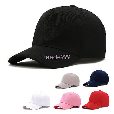 89f3c398f0e Men Women Caps Summer Hat Baseball Cap Plain Solid Sport Visor Sun Golf Ball  Hat