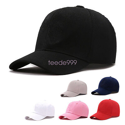 Men Women Caps Summer Hat Baseball Cap Plain Solid Sport Visor Sun Golf  Ball Hat 264890abf678