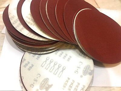 """25pc Drywall Sanding Discs, 9"""" 80-Grit *Fits Porter Cable 7800 Hook & Loop"""