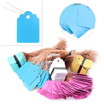 100Pcs Jewelry Garment Merchandise Brand Label Price Pricing Tags Tie Strung