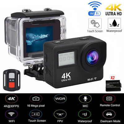 4K Wifi Sports Camera Ultra HD Helmet Mini DV Action Camcorder Touch With Remote