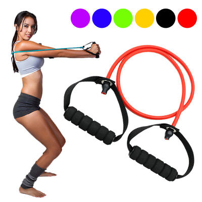 Workout Resistance Exercise Bands Fitness Yoga Gym Elastic Pilates Tension Tube