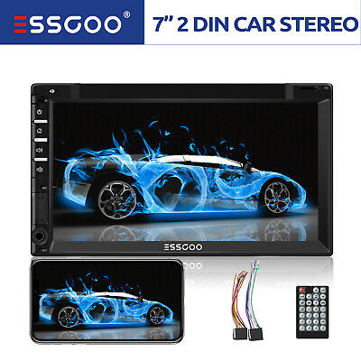 """Bluetooth 7"""" Car Stereo Radio MP5 MP3 Player 2 Double DIN Touch Screen 7012B UK"""