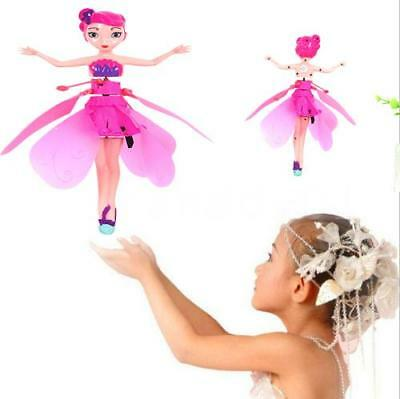 Electronic Flying Baby Dolls Toys Flying Fairy Doll Infrared Induction N8Q2