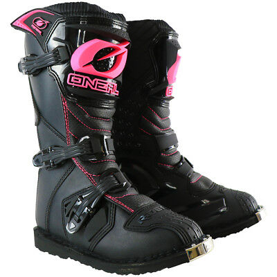 Oneal NEW 2019 Youth Mx Rider Black Pink Dirt Bike Kids Girls Motocross Boots
