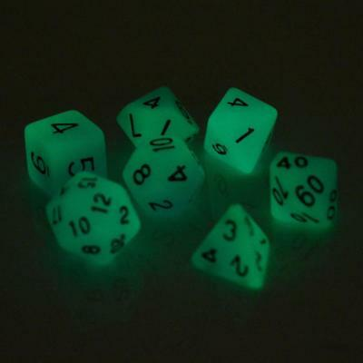 Light Dice Dungeon & Dragon Luminous D4 - D20 Multi Sided Game Entertainment 7pc