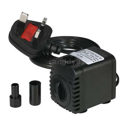 600L/H 8W Submersible Water Pump Mini Fountain with 2 Nozzles AC 110/220V V2X6