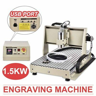 USB 3AXIS 6040 CNC ROUTER ENGRAVER ENGRAVING MILL&DRILL MACHINE MACH3 PCB/Wood