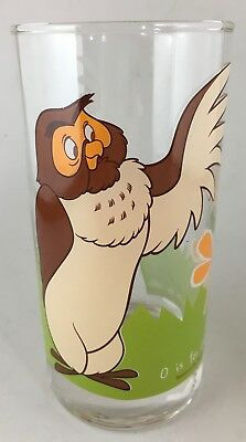 IXL Collectable Glass Disney Winnie the Pooh Owl #6 of 6 glasses, cup