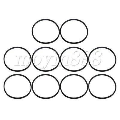 10 x Black 15cm Turntable Drive Belt Replacement for Recorder Player