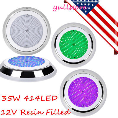 300mm Led Swimming Pool Light RGB Stainless 12V Resin Filled 35W 414LED
