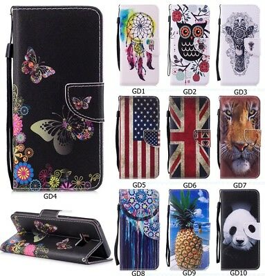 Fashion Hybrid Printed Flip PU Leather Wallet Kickstand Case Cover For Phone GD1