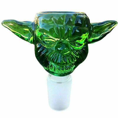 18mm Green Star Wars Yoda Design Glass Bowl Male Joint for Bongs Water Hookahs