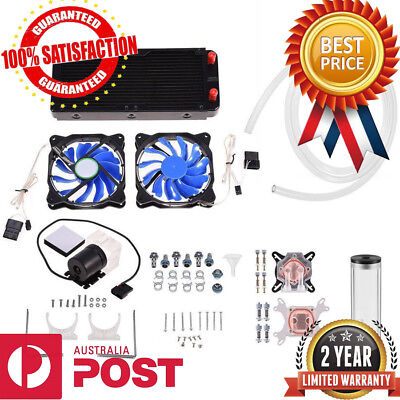 PC Liquid Cooling 240mm Radiator Cooler Kit Pump Reservoir CPU GPU HeatSink BT