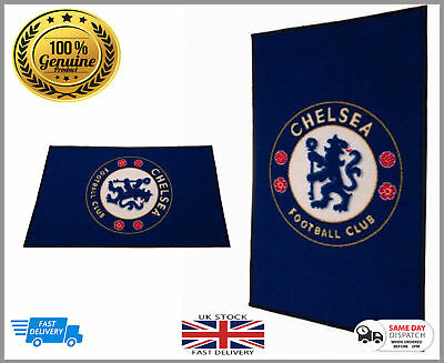 2 x Official Licens Chelsea Football Club Large Rug bedroom - Non Slip Mat Gift