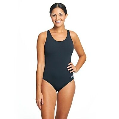 Zoggs Womens Coogee Sonicback Chlorine Resistant Black Swimming