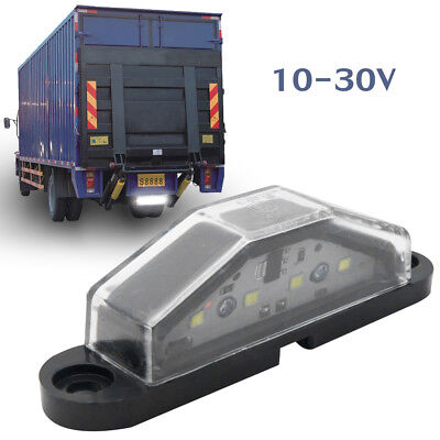 2X 4LED License Number Plate Light Tail Rear Lamp For 12/24V Truck Trailer Lorry